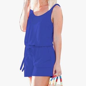 Royal blue romper size small NWOT